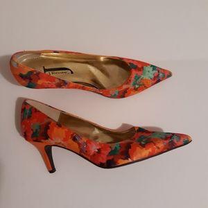 J. Renee Women's Floral Pumps Shoes Size 7.5